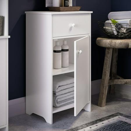 RiverRidge Medford Collection - Single Door Floor Cabinet - White