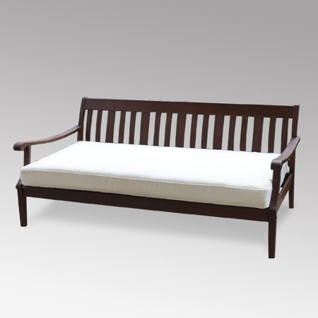 Alston Wood Outdoor Sofa Daybed with White Cushion ()