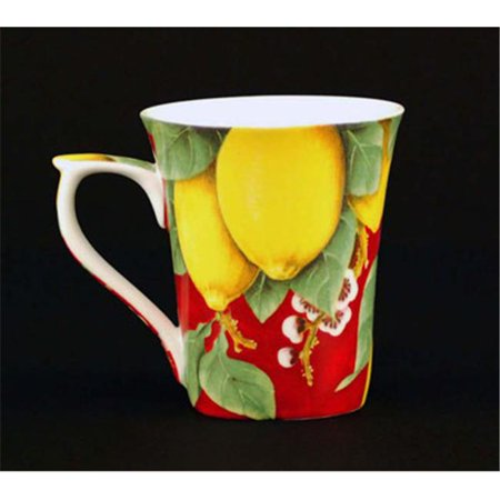 Chinese Aubusson China (Euland China FR0-008L Set Of Two 12-Ounce Mugs - Lemons)