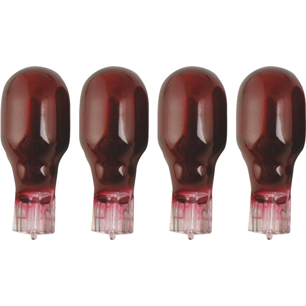 Woods Ind. 4w/4 Pack Red Bulb 11691