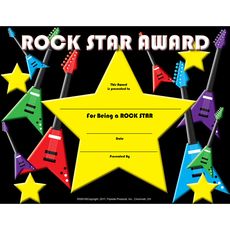 Rock Star Certificate - image 1 of 1
