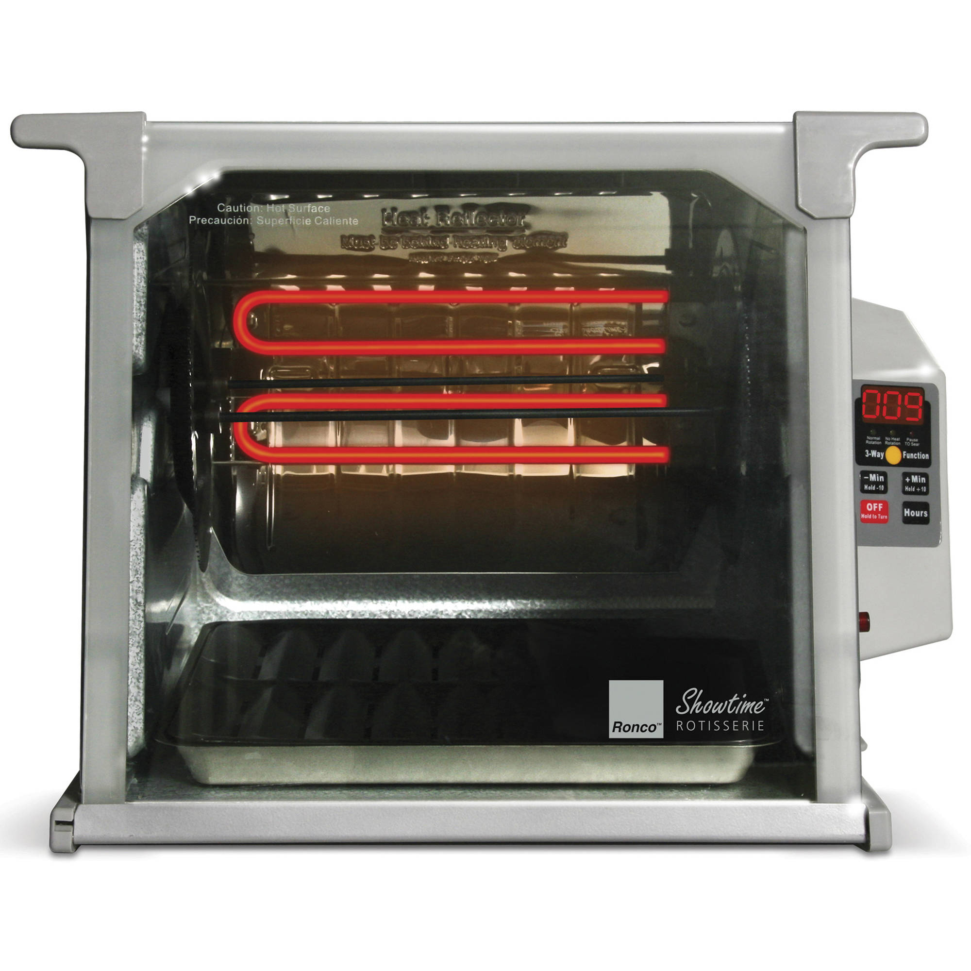 Ronco ST5000PLGEN Digital Showtime Rotisserie and BBQ Oven, Platinum Edition