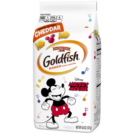 Goldfish- Special Edition Disney Mickey Mouse Cheddar Crackers