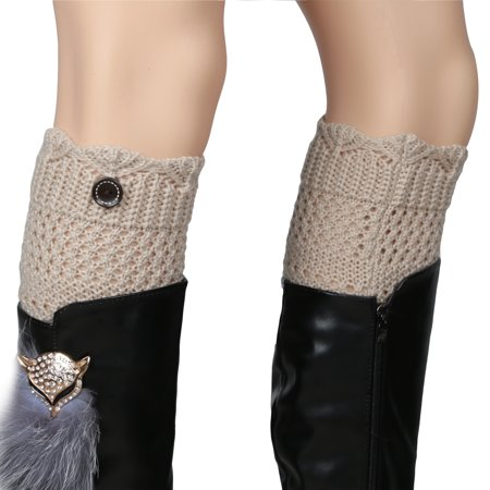 Women's Crochet Knit Winter Boot Cuff Leg Warmers](Cheap Furry Leg Warmers Boot Covers)