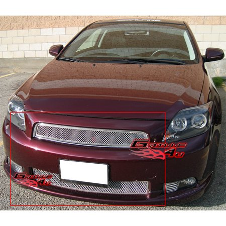 Scion Tc Mesh Grill (Compatible with 2004-2007 Scion TC Stainless Steel Mesh Grill Combo N19-T03977T)