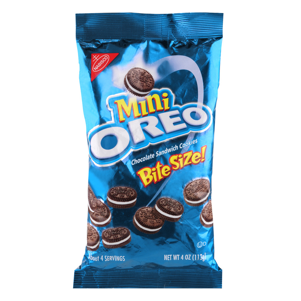 Nabisco Mini Oreo Bite Size Chocolate Sandwich Cookies, 4.0 OZ
