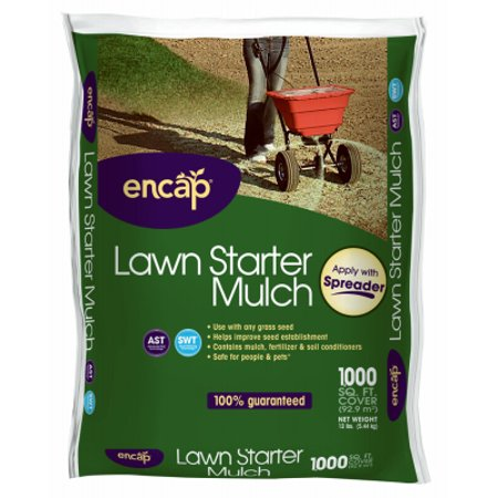 1000-Sq. Ft. 12-Lb. Lawn Starter Mulch - Must Order in Quantities of 4 - Pack of (Houses Under 1000 Sq Ft For Sale)
