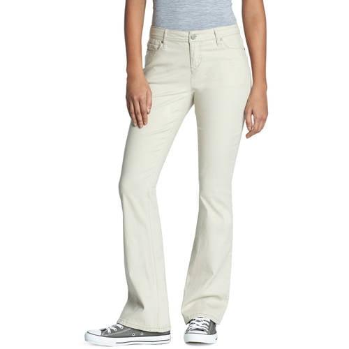 L.E.I. Juniors' Sophia Flare Twill Pants - Walmart.com