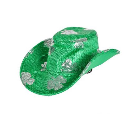Saint Patrick's Day Green Shamrock Cowboy Cowgirl Cow Boy Hat Costume - Diy Cowboy Hat