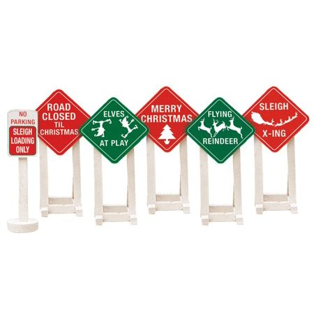 Lionel Christmas Railroad Signs 6-Pack](Railroad Sign)