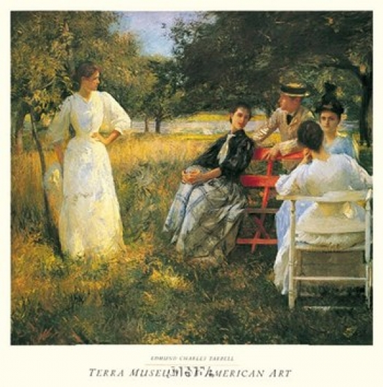 In The Orchard, 1891 Poster Print by Edmund Charles Tarbell (27 x 30)