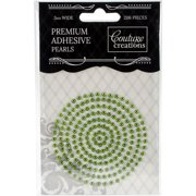 Couture Creations Self-Adhesive Pearls 3mm 206/Pkg-Emerald Green