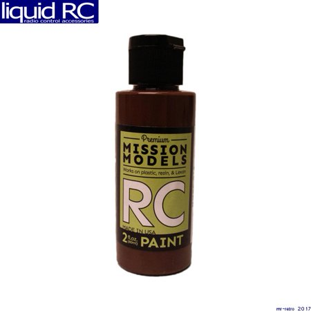 Mission Models MMRC-014 Dark Brown Water-Based Rc Airbrush Paint 2oz