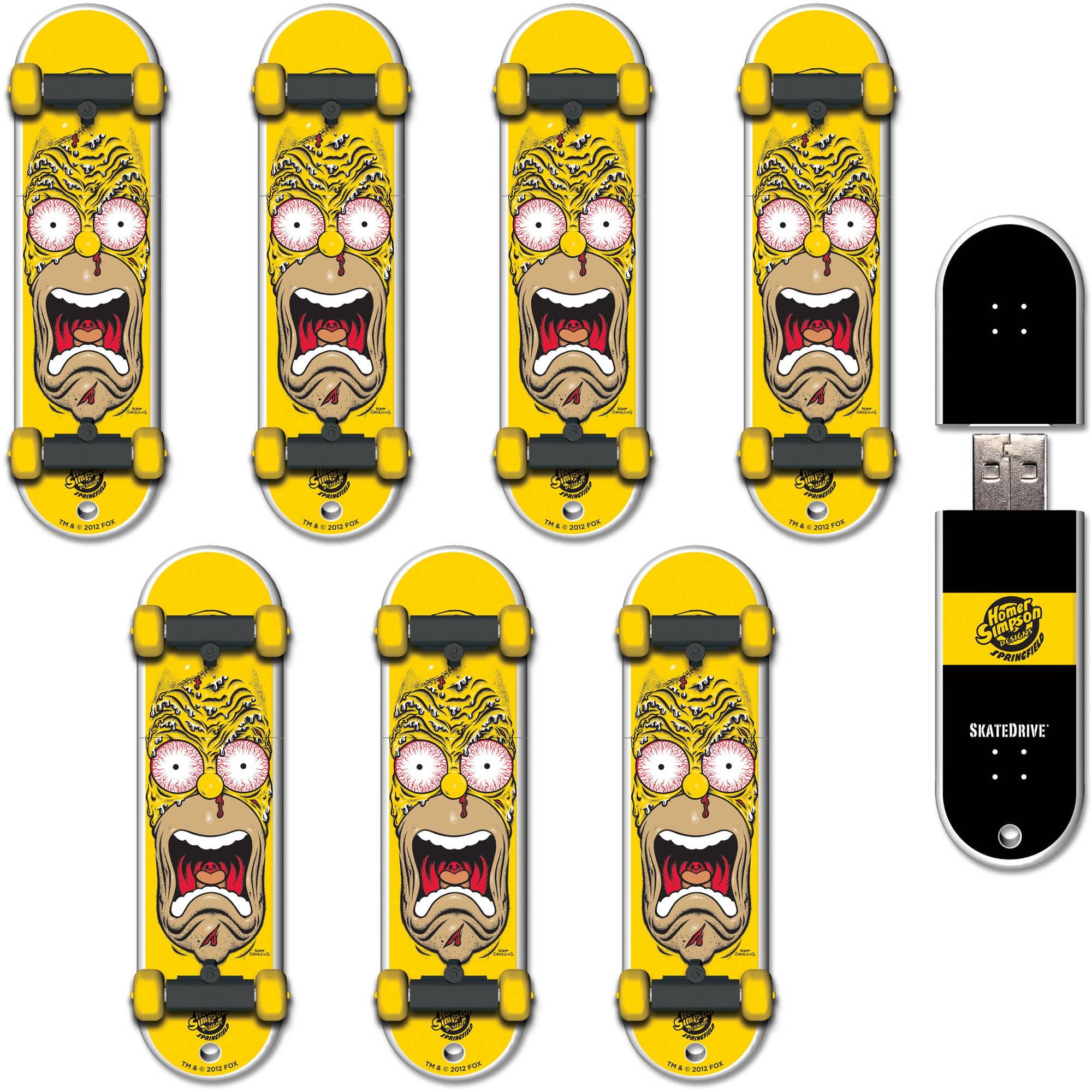 Image of 16GB SkateDrive Santa Cruz: Homer Face USB Flash Drive, 8-Pack