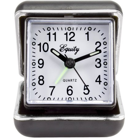 Equity By La Crosse 20080 Quartz Fold Up Travel Alarm Clock