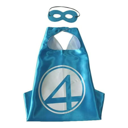 Marvel Comics Costume - Fantastic Four Cape and Mask with Gift Box by Superheroes - Fantastic 4 Costumes