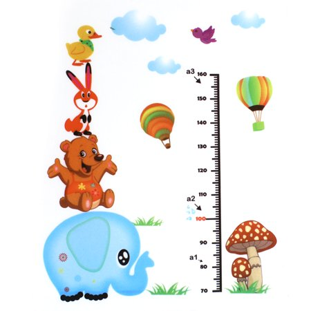 Cartoon Height Measurement Chart PVC Wall Sticker Decal Wallpaper for Home