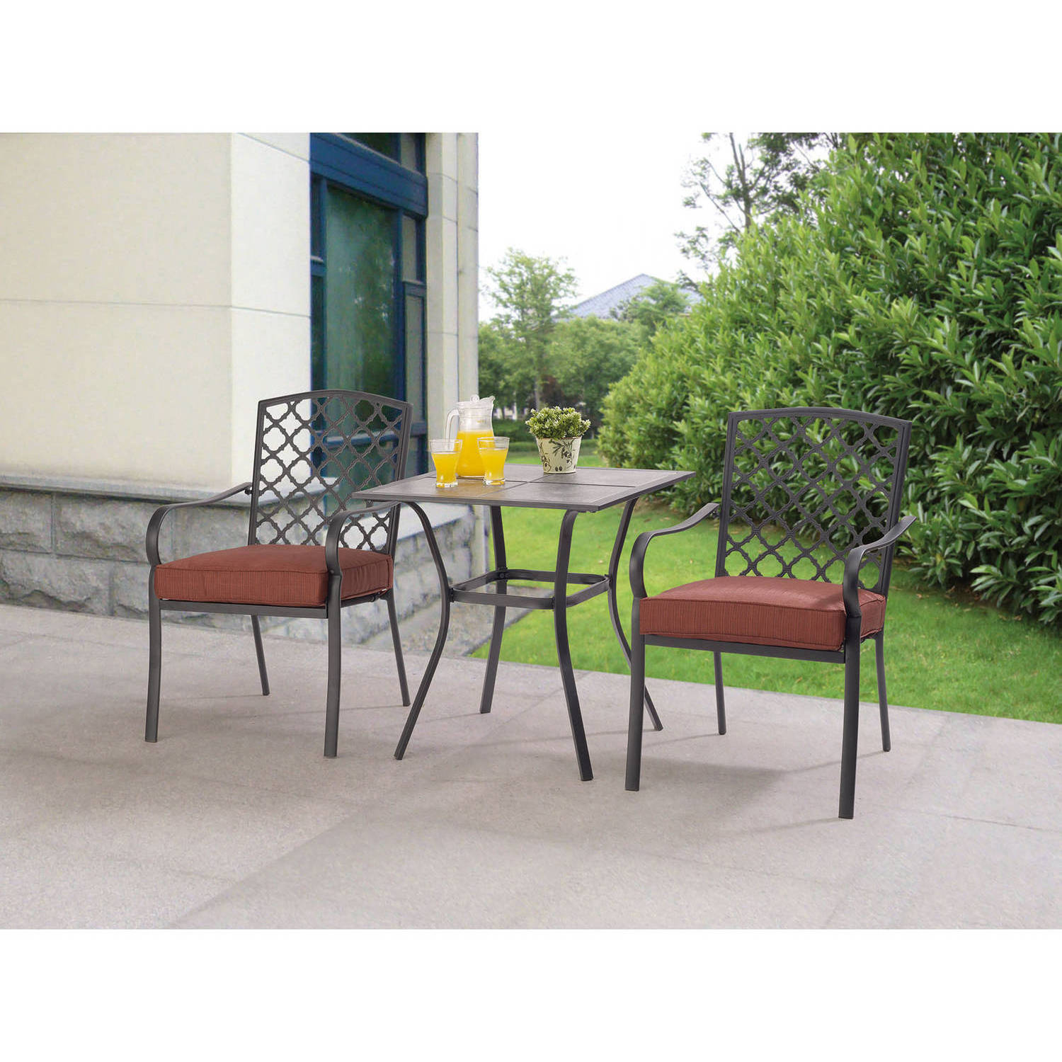 mainstays grayson court 3piece bistro set