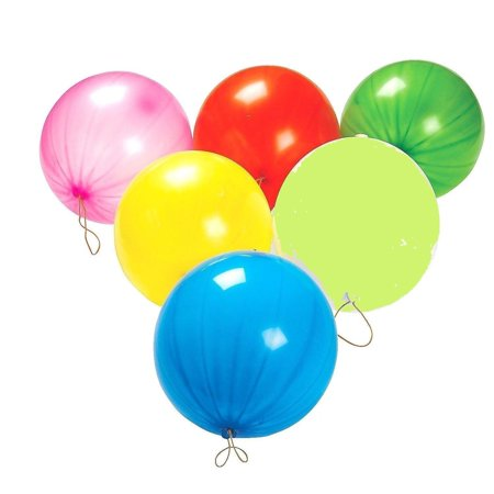 Halloween Punch Ball Balloons (Punch Balloons, Balls - 12 per unit - Assorted)