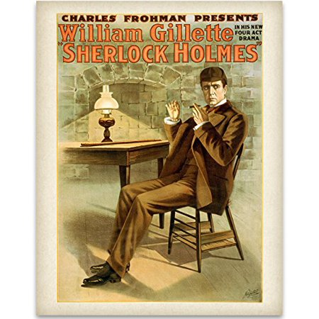 Lone Star Art Sherlock Holmes Theatre Print - 11x14 Unframed Print - Great Vintage Decor