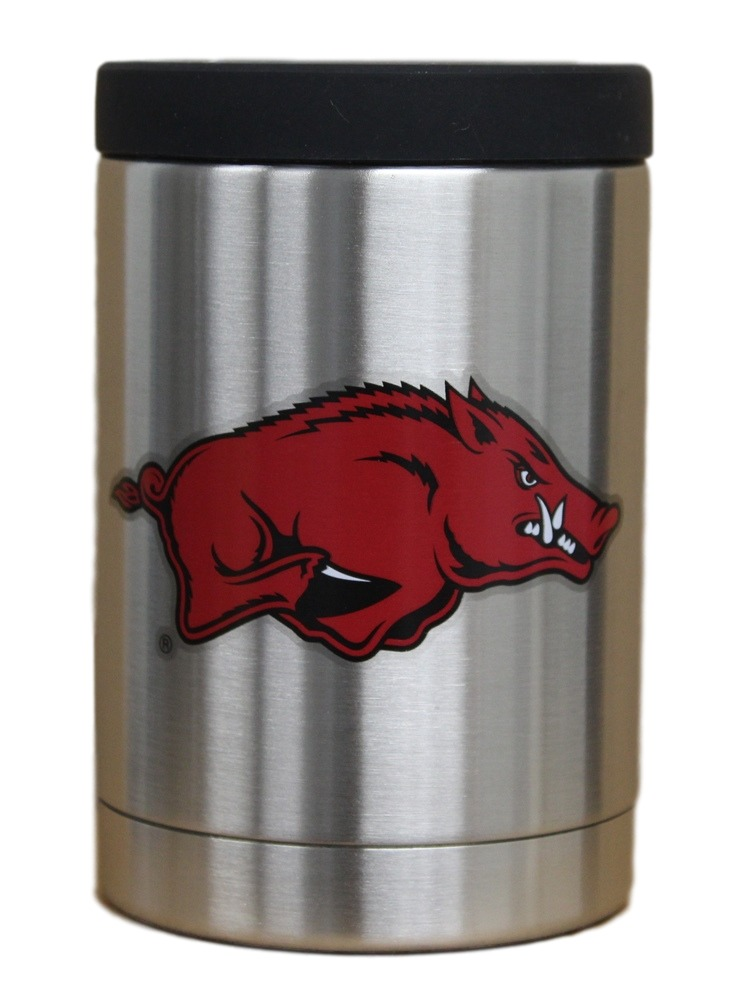 Arkansas Razorbacks NCAA Stainless Steel Insulated 12oz Jacket with Seal by Gametime Sidekicks