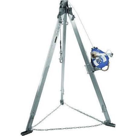 3M DBI-SALA Advanced 8301001 Confined Space Kit 7-Feet Aluminum Tripod and Sealed 3-Way SRL with 50-Feet of 3/16-Inch Stainless Cable, Mounting Bracket and Carrying Bag