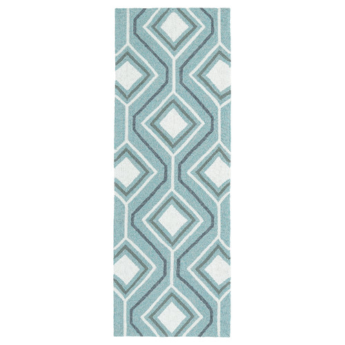 Kaleen Escape Hand-Tufted Blue Indoor/Outdoor Area Rug