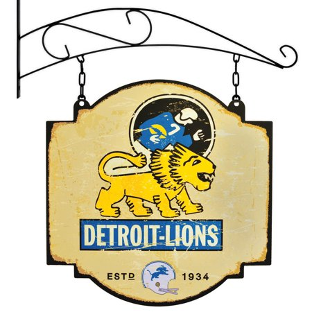 "Detroit Lions 16"" x 16"" Tavern Sign - Cream - No Size"