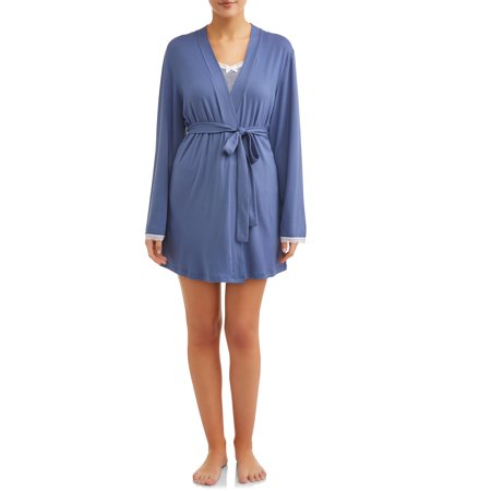3-Piece Knit Sleep Set (Short, Cami, and Robe) JV Apparel Women's and Women's Plus (Graduation Robes)