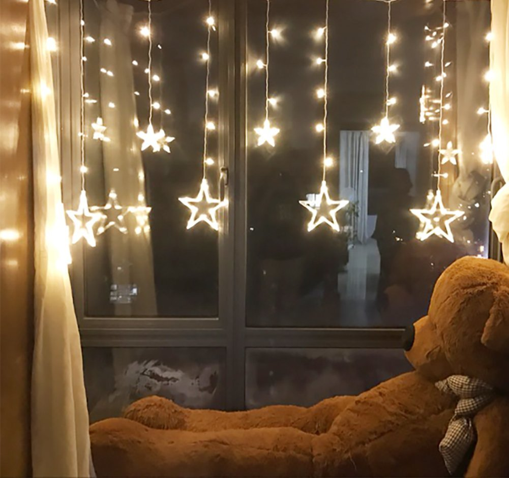 Twinkle Star 138 Led Window Curtain String Light Wedding Party Home Garden Bedroom Outdoor Indoor Wall Decorations Warm White Walmart Canada