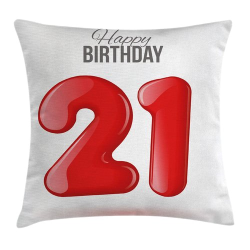 Ambesonne Quote Teen Birthday Party Pillow Cover