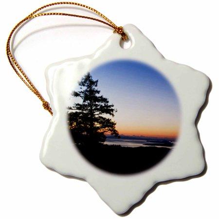 3dRose British Columbia, Salt Spring, Mt. Maxwell sunrise-CN02 RTI0152 - Rob Tilley - Snowflake Ornament, -