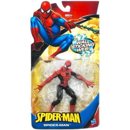 Classic Heroes Spider-Man Action Figure [Wall Sticking Web Red & Black] ()