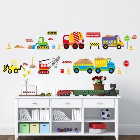 Cute Cartoon City Car Wall Stickers Decor Kids Babys Bedroom Studyroom Playroom Baby Cards To Print
