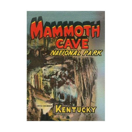(Poster for Mammoth Cave Print)