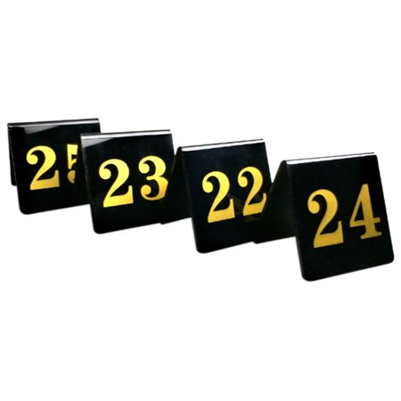 Aspire 10PCS Tent Style Double Side Acrylic Table Numbers for Restaurant, 3.15