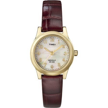Timex Women's Essex Avenue Burgundy Leather Strap Watch
