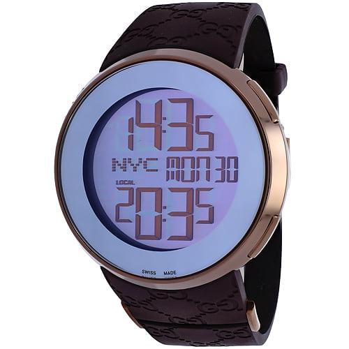 Gucci Men's Digital Watch Quartz Sapphire Crystal YA114209