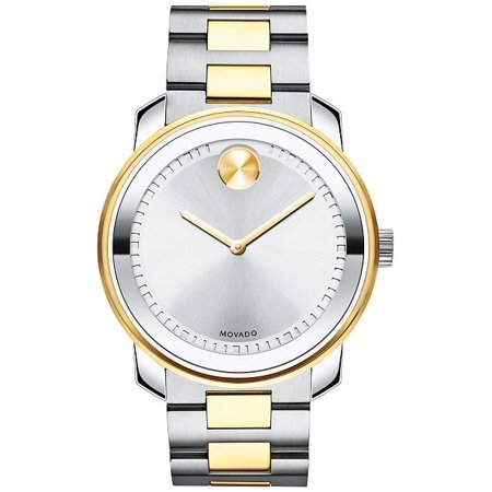 Silver/Gold Two-Tone Bold Analog Watch (Wittnauer Silver Wrist Watch)