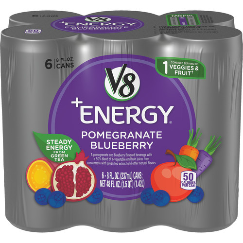 V8 +Energy Pomegranate Blueberry, 8 oz., 6 pack