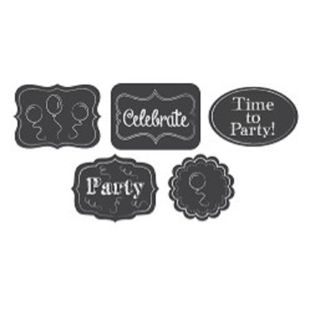 Club Pack of 60 Black and White Chalkboard School Themed Cutout Hanging Party Decorations