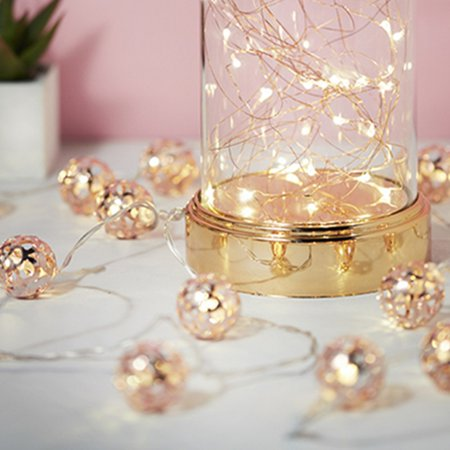 LED String Lights,Rose Gold Leaves String Lights Camping Hanging LED Light Hanging Indoor/Outdoor String Lights, Ideal as Night Lights,Home Gift Idea - Theme Night Ideas
