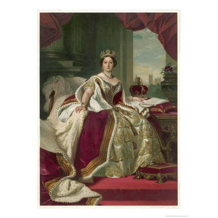 Queen Victoria Circa 1845 Print Wall Art By Franz Xaver Winterhalter