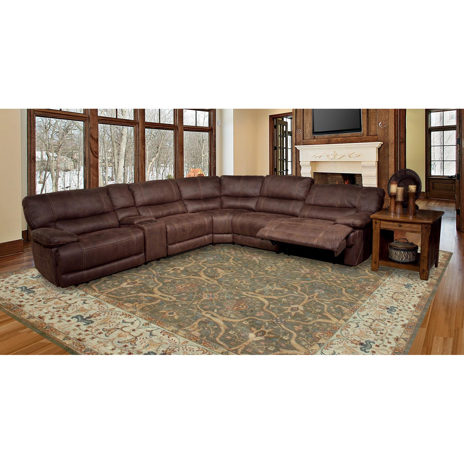 Parker House Pegasus 6 Piece Modular Sectional with 2 Power Recliners