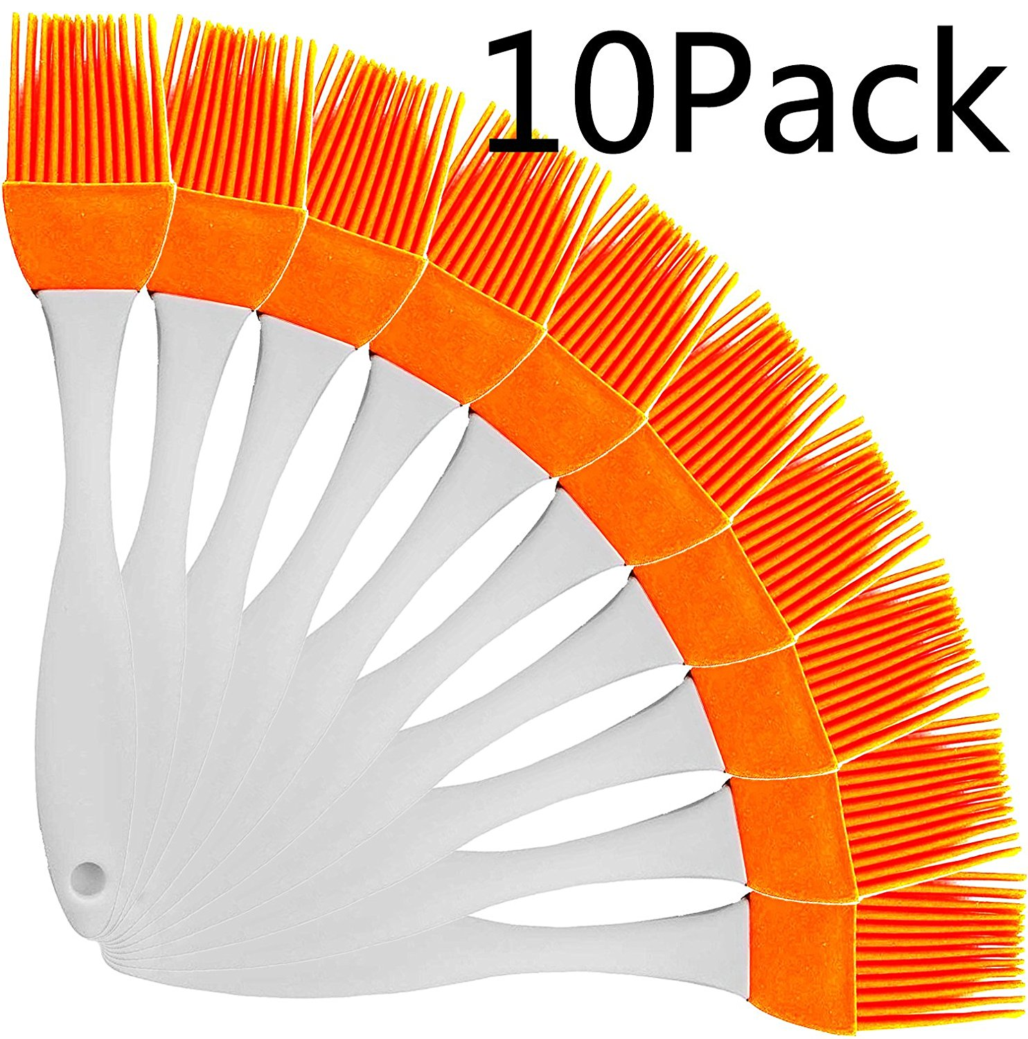 10 Sets Silicone Basting Pastry Brushe Heat Resistant BBQ Barbecue Pastry Brushes by