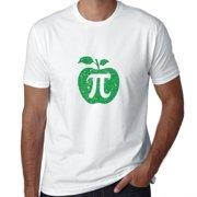 Apple Pi - Pi Day 3-14 Trendy Green Graphic Men's T-Shirt