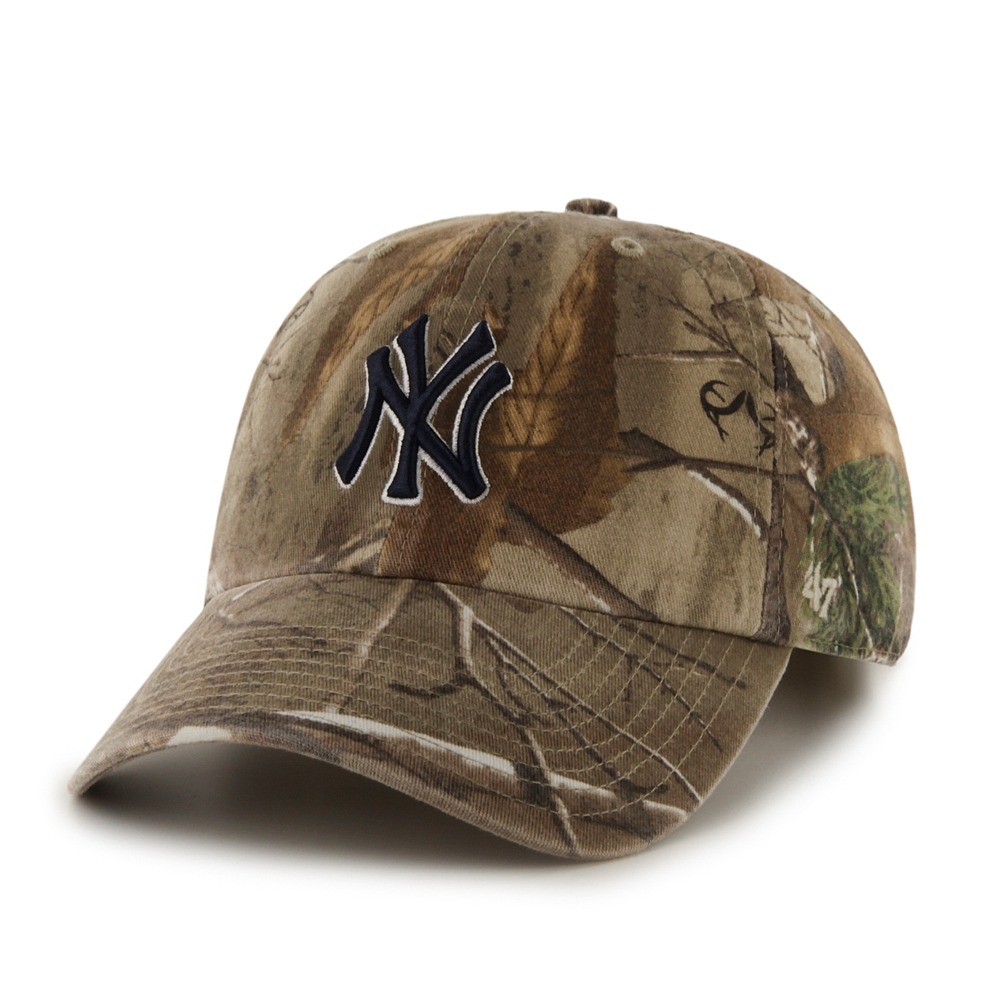 "New York Yankees 47 Brand MLB ""Realtree Camo""  Adjustable Cotton Twill Hat"