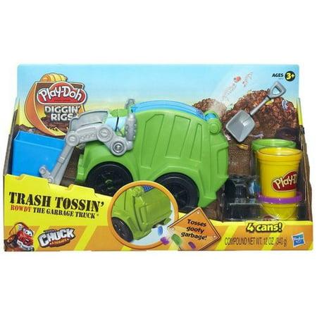 Play Doh Trash Tossin Rowdy The Garbage Truck Walmart Com