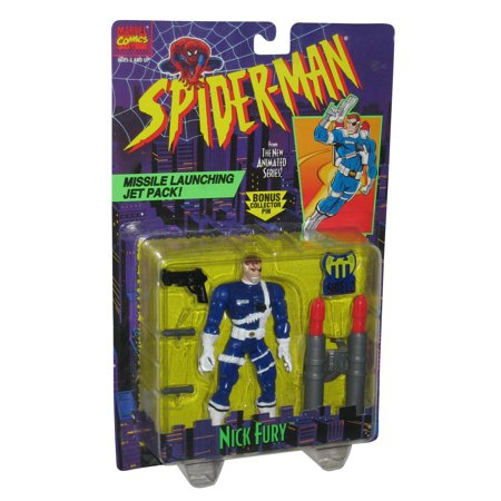 Marvel Spider-Man Animated Series Nick Fury Toy Biz Action