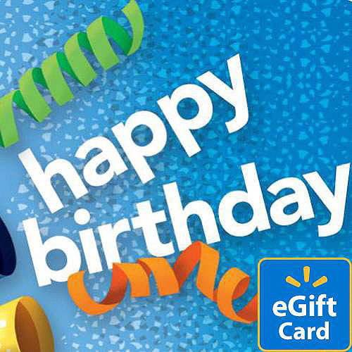 Birthday Noisemaker Walmart eGift Card